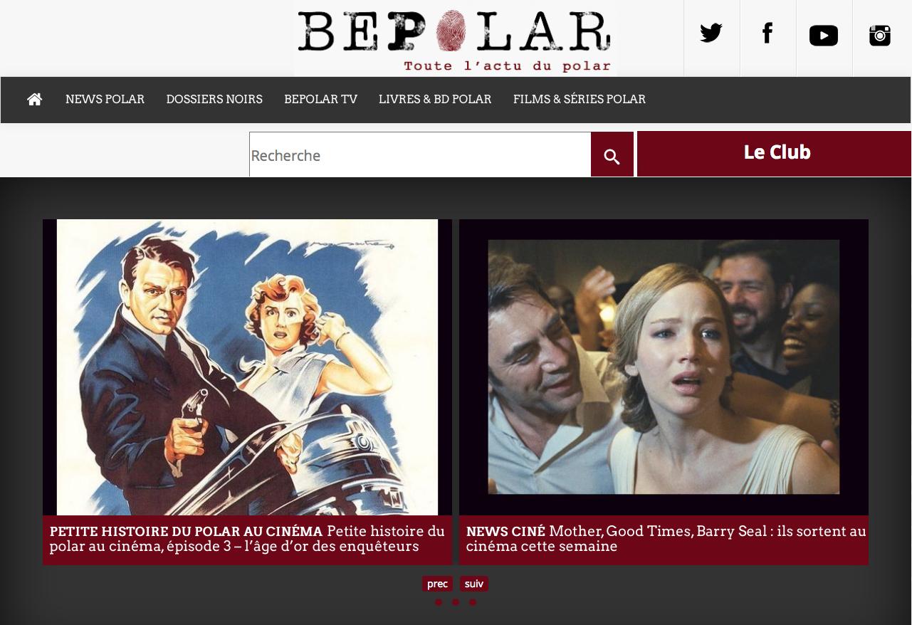 La une du site BePolar.fr
