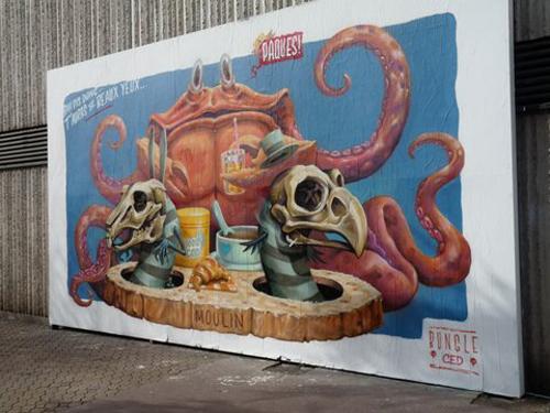 Ville de Nancy - Street Art by Bungle Ced - Le Mur mars 2018