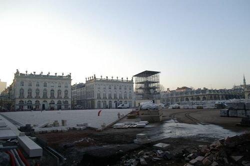 Ville de Nancy - Place Stanislas en travaux en décembre 2004