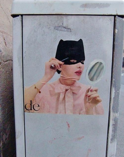 Ville de Nancy -  Street art collage de M et Mme