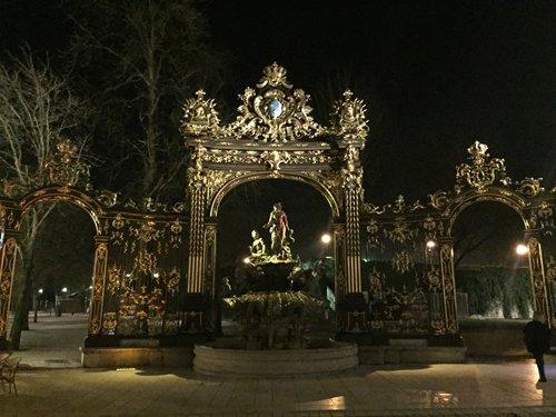 Ville de Nancy - Les grilles de la place Stanislas de nuit