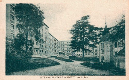 Ville de Nancy - Carte postale de la cité universitaire