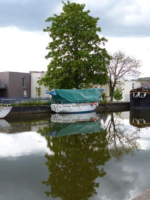 Ville de Nancy - Barque sur le canal