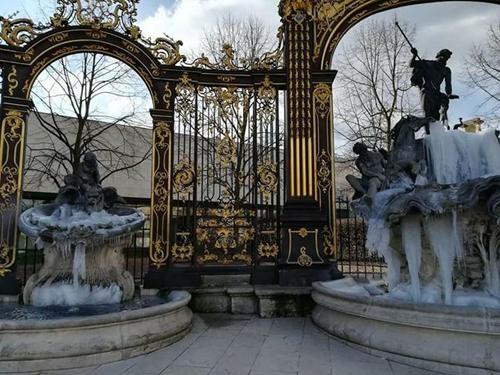 Ville de Nancy - Fontaines hivernales