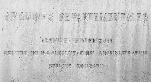 Ville de Nancy - Plaque des archives départementales