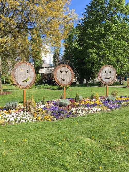 Ville de Nancy - Les smileys du parc Richard Pouille