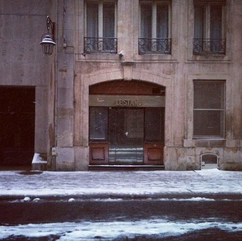 Ville de Nancy sous la neige - Le Stan