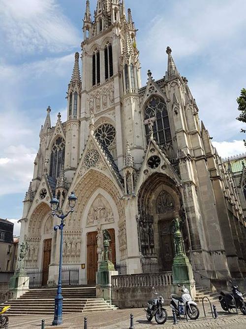 Ville de Nancy - Avant de la Basilique Saint Epvre